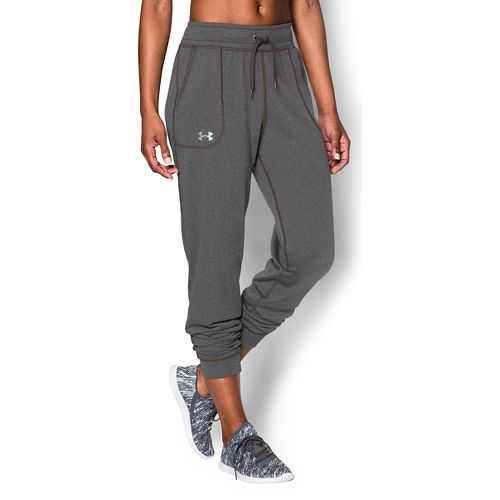 Womens Under Armour Tech Pants - Carbon Heather XL