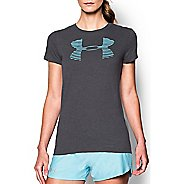 Womens Under Armour Favorite Big Logo Crew Short Sleeve Technical Tops