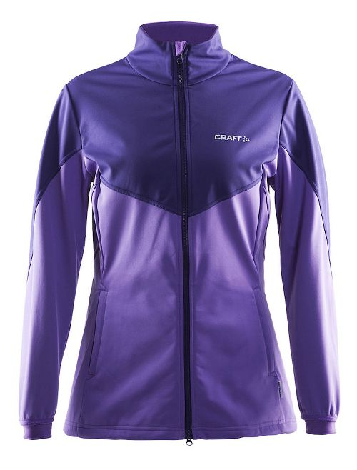 Womens Craft Voyage Running Jackets - Lilac Melange S