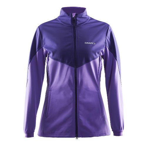 Womens Craft Voyage Running Jackets - Lilac Melange L