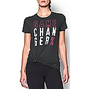 Womens Under Armour Favorite Game Changer Crew Short Sleeve Technical Tops