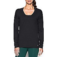 Womens Under Armour Favorite Collegiate Long Sleeve Technical Tops