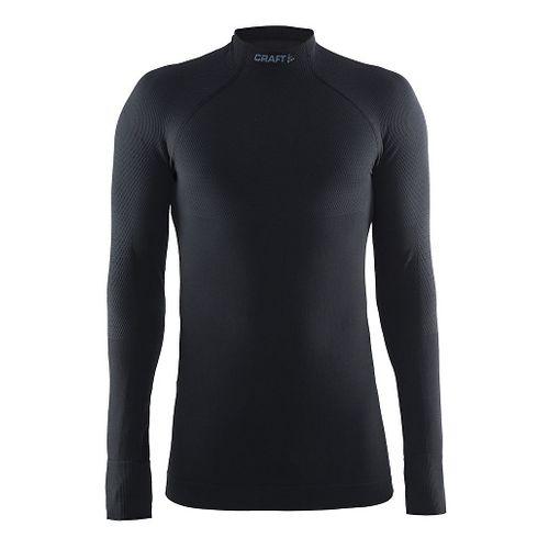 Mens Craft Warm Half Neck Long Sleeve Technical Tops - Black L