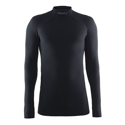 Mens Craft Warm Half Neck Long Sleeve Technical Tops - Black S