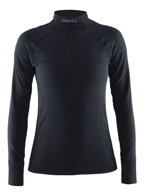 Womens Craft Warm Half Neck Long Sleeve Technical Tops - Black S
