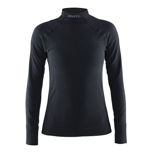 Womens Craft Warm Half Neck Long Sleeve Technical Tops - Black L