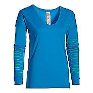 Womens Under Armour Favorite Collegiate - Outline Logo Long Sleeve Technical Tops