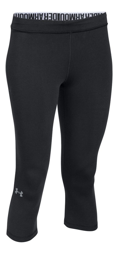 Womens Under Armour Favorite - Solid Capris Pants - Black XS