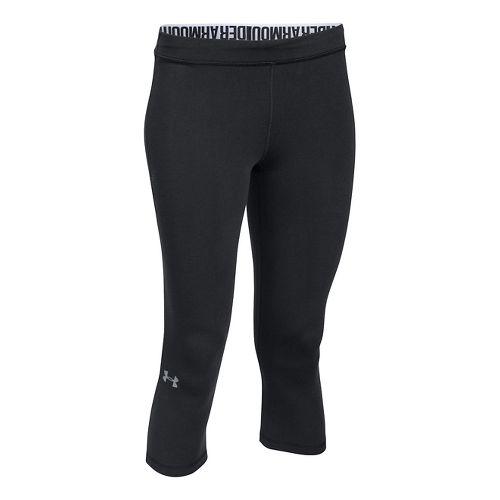 Womens Under Armour Favorite - Solid Capris Pants - Black XS