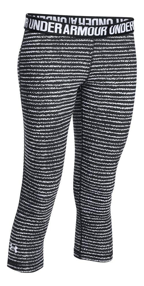 Womens Under Armour Favorite - Solid Capris Pants - White S