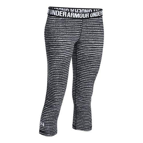 Womens Under Armour Favorite - Solid Capris Pants - White M