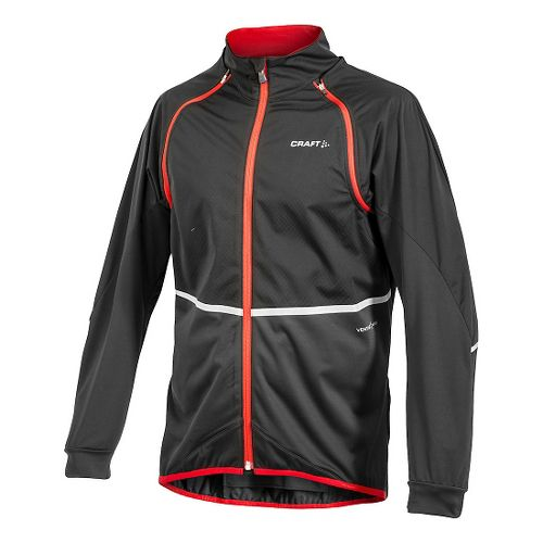 Mens Craft BIKE Adapt Storm Running Jackets - Black/Bright Red M