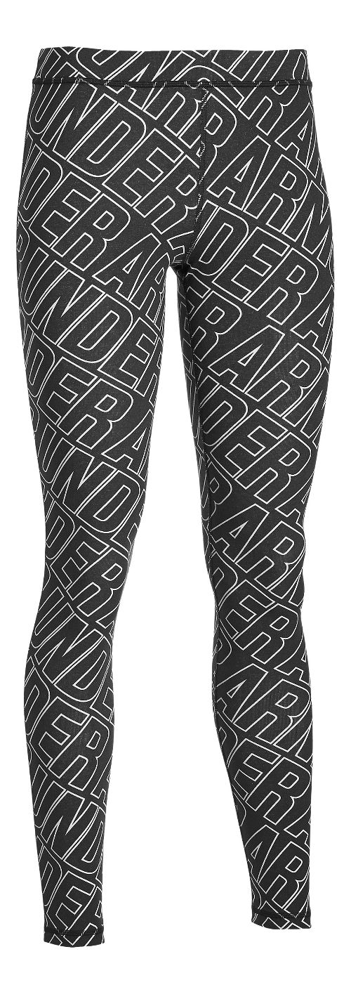 Womens Under Armour Favorite Legging - All Over Wordmark Tights & Leggings Pants - Black S