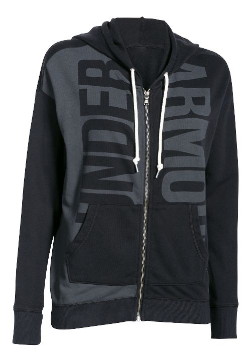Womens Under Armour Favorite French Terry Full-Zip Hoodie & Sweatshirts Technical Tops - ...