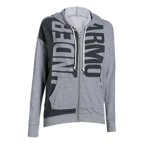 Womens Under Armour Favorite French Terry Full-Zip Hoodie & Sweatshirts Technical Tops - True ...
