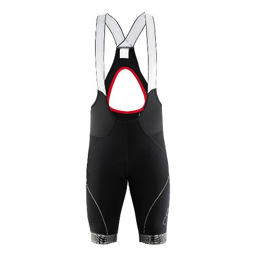Mens Craft Shield Bib Shorts Cycling Shorts - Black/Bright Red XL