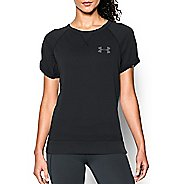 Womens Under Armour Favorite French Terry Crew Short Sleeve Technical Tops