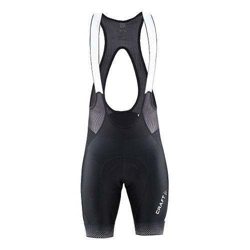 Mens Craft Glow Bib Cycling Shorts - Black S