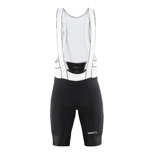 Mens Craft Tech Bib Cycling Shorts - Black XL