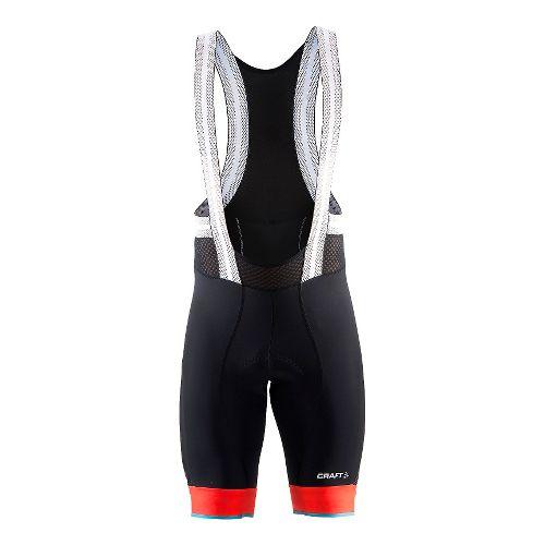 Mens Craft Tech Bib Cycling Shorts - Black/Heat/Gale L