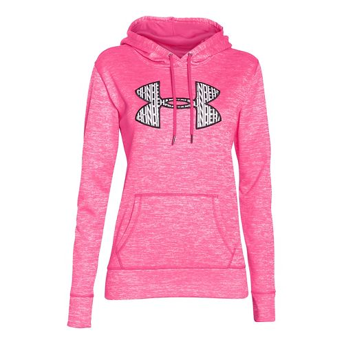 Womens Under Armour Storm Armour Fleece Big Logo Twist Hoodie & Sweatshirts Technical Tops - ...