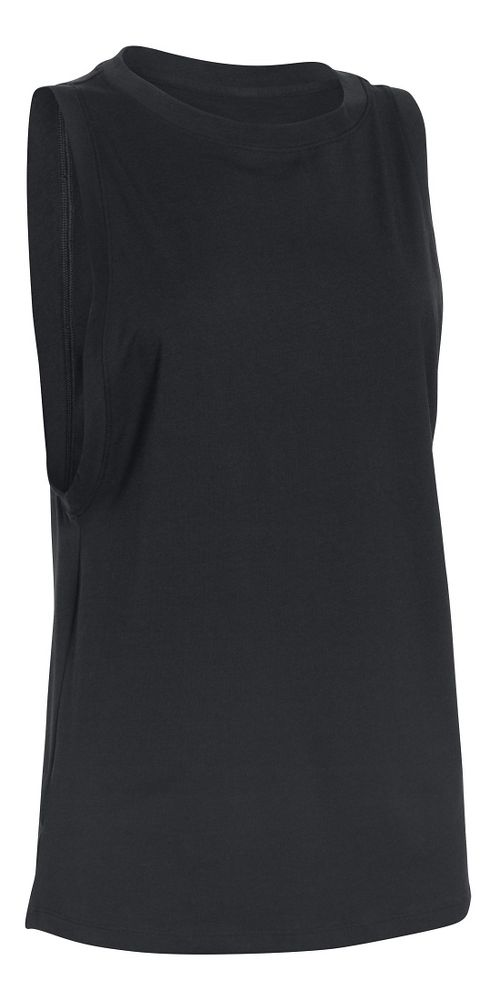 Womens Under Armour Studio Muscle Sleeveless & Tank Non-Technical Tops - Black S