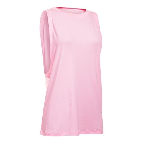 Womens Under Armour Studio Muscle Sleeveless & Tank Non-Technical Tops - Petal Pink M