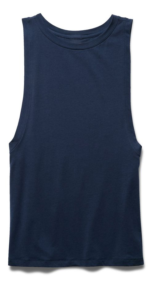 Womens Under Armour Studio Muscle Sleeveless & Tank Non-Technical Tops - Navy Seal S