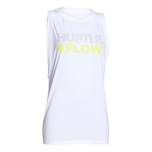 Womens Under Armour Studio Hustle & Flow Muscle Sleeveless & Tank Non-Technical Tops - ...