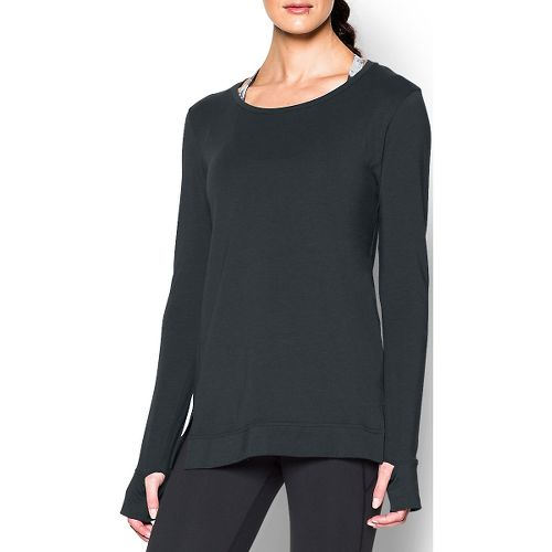 Womens Under Armour Studio Oversized Long Sleeve Non-Technical Tops - Anthracite S