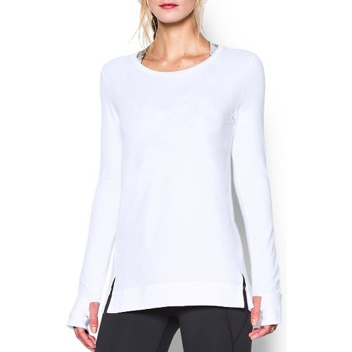 Womens Under Armour Studio Oversized Long Sleeve Non-Technical Tops - White S