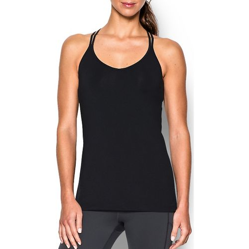 Womens Under Armour T-Back Sleeveless & Tank Technical Tops - Black XS