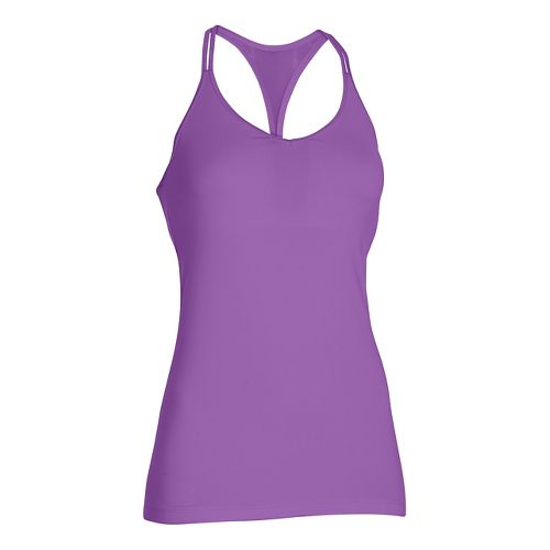Womens Under Armour T-Back Sleeveless & Tank Technical Tops - Mega Magenta L