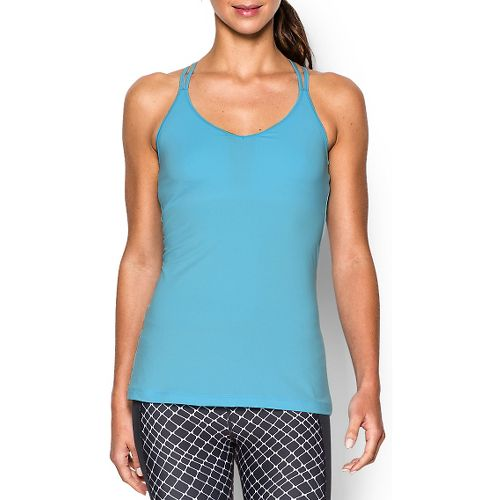 Womens Under Armour T-Back Sleeveless & Tank Technical Tops - Sky Blue XL