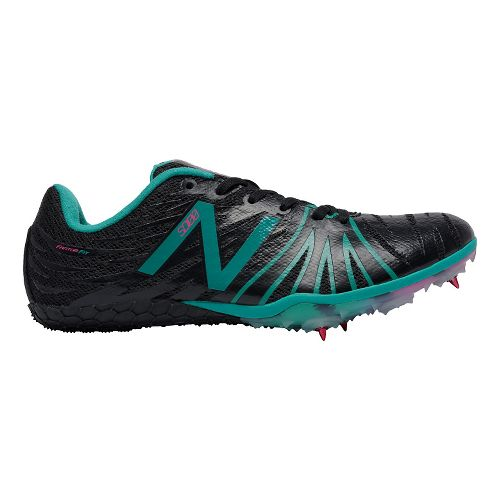 Womens New Balance SD100v1 Track and Field Shoe - Black/Blue 10.5