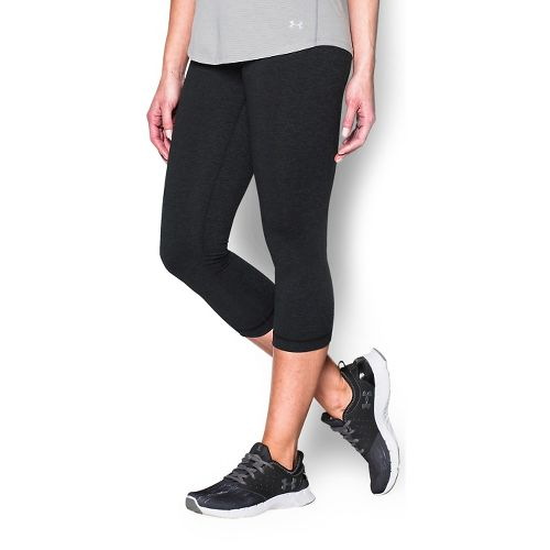 Womens Under Armour Shape Shifter Capris Pants - Asphalt Heather XS