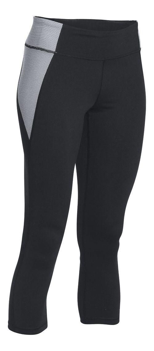 Womens Under Armour Shape Shifter Crop Capris Pants - Black/White L
