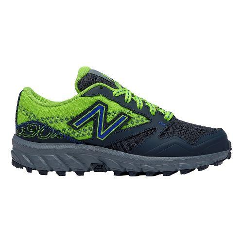 Kids New Balance 690v1 Trail Running Shoe - Green/Grey 13C