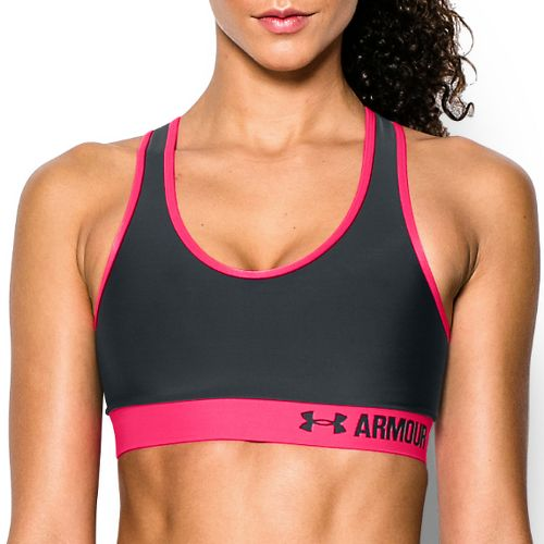 Womens Under Armour Mid Sports Bras - Anthracite/Red S