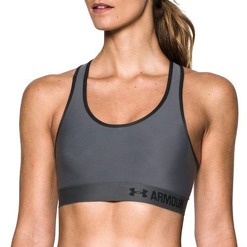 Womens Under Armour Mid Sports Bras - Grey/Black M