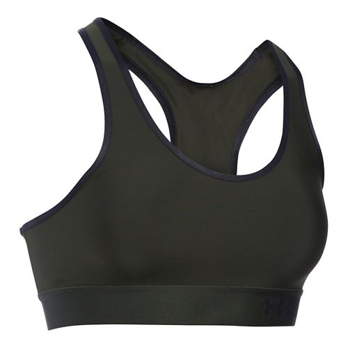 Womens Under Armour Mid Sports Bras - Army Green/Black XS