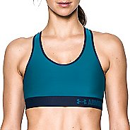 Womens Under Armour Mid Sports Bras - Bayou Blue XS