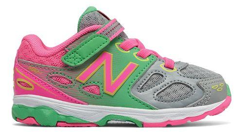 New Balance 680v3 Running Shoe - Grey/Pink/Green 5.5C