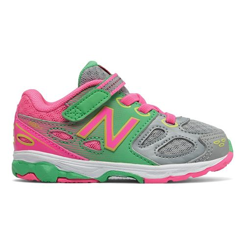 New Balance 680v3 Running Shoe - Grey/Pink/Green 5.5C
