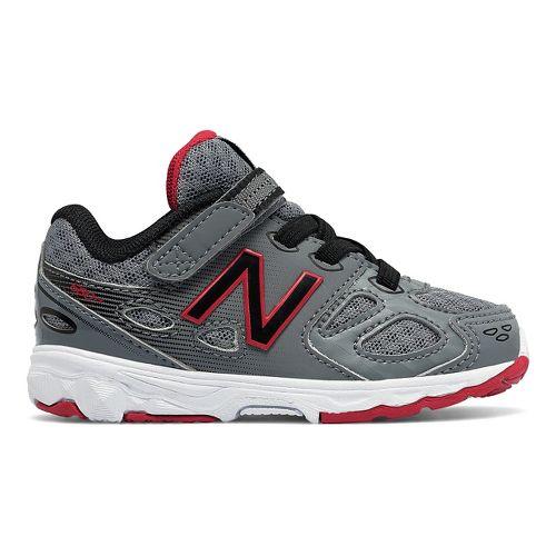 New Balance 680v3 Running Shoe - Grey/Black/Red 9.5C