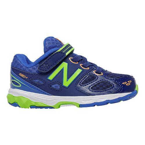 Kids New Balance 680v3 Running Shoe - Blue/Green 8C