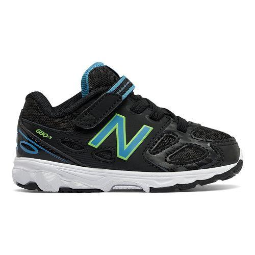 New Balance 680v3 Running Shoe - Black/Blue/Green 9C