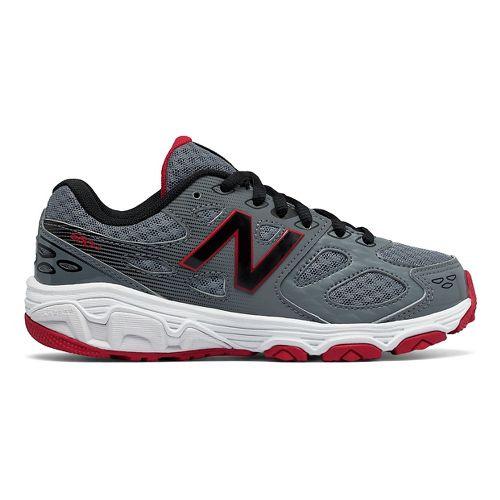 New Balance 680v3 Running Shoe - Grey/Black/Red 7Y