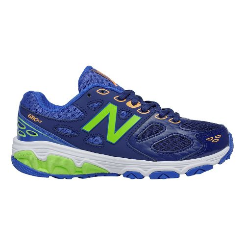 Kids New Balance 680v3 Running Shoe - Blue/Green 7Y