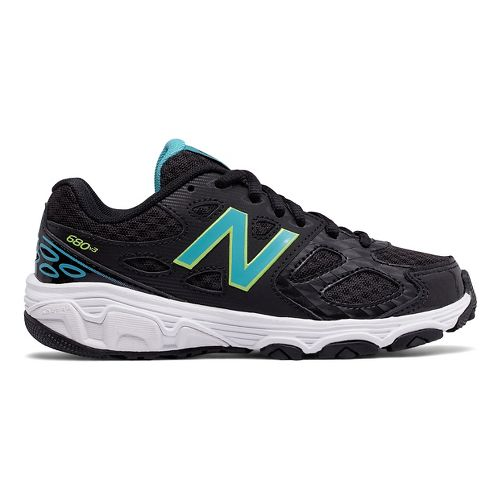 New Balance 680v3 Running Shoe - Black/Blue/Green 6.5Y